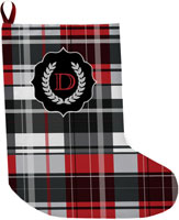 Lavender Belle Stocking (Bold Red Plaid)