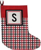 Lavender Belle Stocking (Merry And Bright Plaid)