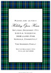 Boatman Geller Holiday Invitations - Black Watch Plaid