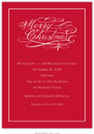 Boatman Geller Holiday Invitations - Merry Christmas Script