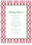 Boatman Geller Holiday Invitations - Trellis Cherry