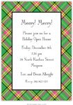 Boatman Geller Holiday Invitations - Plaid Preppy
