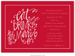 Boatman Geller Holiday Invitations - Eat Drink Be Merry