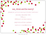 Boatman Geller Holiday Invitations - Confetti Red & Green