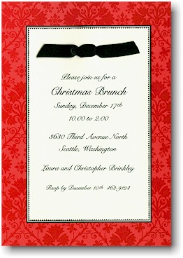 Boatman Geller Holiday Invitations - Red Damask