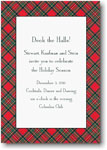 Boatman Geller Holiday Invitations - Red Plaid