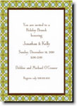 Boatman Geller Holiday Invitations - Tile Green And Blue