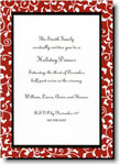 Boatman Geller Holiday Invitations - Vines Red