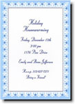Boatman Geller Holiday Invitations - Border Light Blue