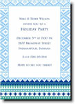 Boatman Geller Holiday Invitations - Fair Isle Blue