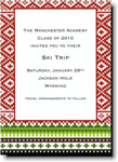 Boatman Geller Holiday Invitations - Fair Isle Red