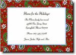 Boatman Geller Holiday Invitations - Paisley Red
