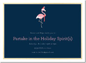 Chatsworth Holiday Invitations - Flamingo Invite