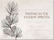 Chatsworth Holiday Invitations - Pine Branch Invite