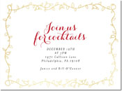 Chatsworth Holiday Invitations - Gold Vine Invite