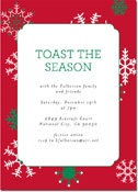 Chatsworth Holiday Invitations - Snowflakes Red Invite