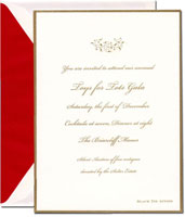 Crane Holiday Invitations - Engraved Gold Border