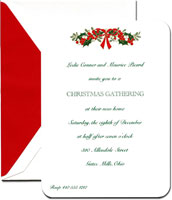 Crane Holiday Invitations - Mistletoe Swag