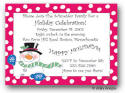 Dinky Designs Holiday Invitations - Polka Dot Snowman - Small Card
