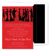 Noteworthy Collections - Holiday Invitations (Silhouette New Years Party Berry)