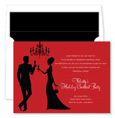Noteworthy Collections - Holiday Invitations (Silhouette Champagne Toast Berry)
