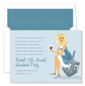 Noteworthy Collections - Holiday Invitations (Hanukkah Girl - Blonde)