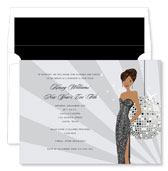 Noteworthy Collections - Holiday Invitations (New Year's Eve Girl - African American)