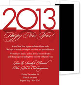 Noteworthy Collections - Holiday Invitations (New Year's Reflection Red)