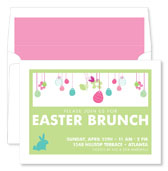 Noteworthy Collections - Holiday Invitations (Easter Egg Fun Green)