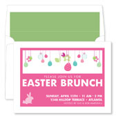 Noteworthy Collections - Holiday Invitations (Easter Egg Fun Pink)
