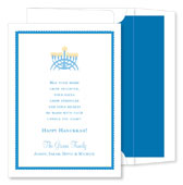 Noteworthy Collections - Holiday Invitations (Menorah)