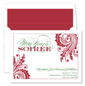 Noteworthy Collections - Holiday Invitations (New Year's Soiree White)