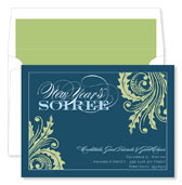 Noteworthy Collections - Holiday Invitations (New Year's Soiree Teal)