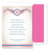 Noteworthy Collections - Holiday Invitations (Patriotic Banner)