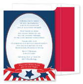 Noteworthy Collections - Holiday Invitations (Patriotic Oval)