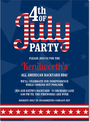 Noteworthy Collections - 4th of July Party Invitations (4th of July Navy)