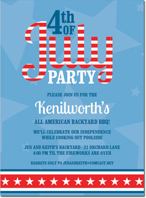 Noteworthy Collections - 4th of July Party Invitations (4th of July)