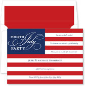 Noteworthy Collections - 4th of July Party Invitations (Old Glory)