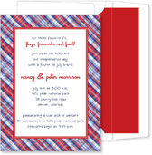 Noteworthy Collections - 4th of July Party Invitations (Patriotic Plaid)