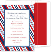 Noteworthy Collections - 4th of July Party Invitations (Patriotic Stripe)