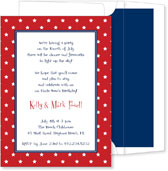 Noteworthy Collections - 4th of July Party Invitations (Red Stars)