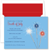 Noteworthy Collections - 4th of July Party Invitations (Sparkler Blue)