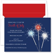 Noteworthy Collections - 4th of July Party Invitations (Sparkler Navy)