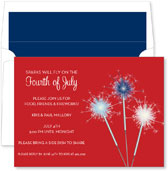 Noteworthy Collections - 4th of July Party Invitations (Sparkler Red)