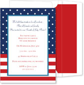 Noteworthy Collections - 4th of July Party Invitations (Stars & Stripes)