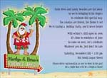 Noteworthy Collections - Holiday Invitations (Tropical Santa)