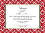Noteworthy Collections - Holiday Invitations (Ornate Diamonds Red)