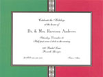Noteworthy Collections - Holiday Invitations (Red on Green Medallions Invite)