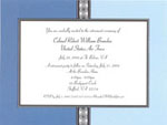 Noteworthy Collections - Holiday Invitations (Slate on Blue Medallions Invite)