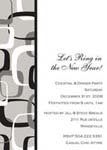 Noteworthy Collections - Holiday Invitations (Mod Black & Silver Invite)